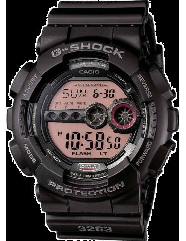 Chic Time | Montre Homme Casio G-Shock GD-100MS-1ER Bracelet Résine Noir  | Prix : 89,10€