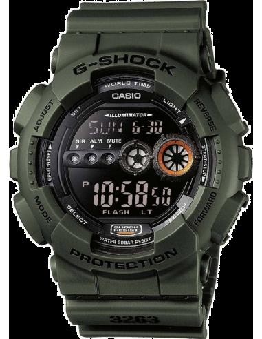 Chic Time   Montre Homme Casio G-Shock GD-100MS-3ER Vert    Prix : 99,00€
