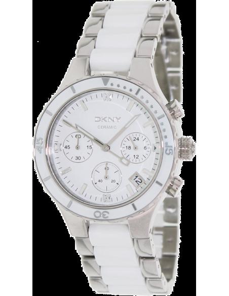 Chic Time | Montre Femme DKNY NY8502 Argent et blanche  | Prix : 233,00€
