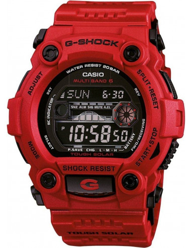 Chic Time | Montre Homme Casio G-Shock GW-7900RD-4ER Rouge  | Prix : 206,10 €