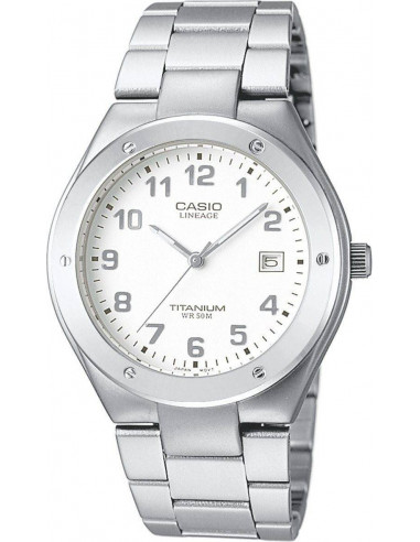 Chic Time | Montre Homme Casio Lineage LIN-164-7AVEF Bracelet Titane  | Prix : 58,50€