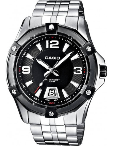 Chic Time | Montre Homme Casio Collection MTD-1062BD-1AVEF Argent  | Prix : 71,10 €