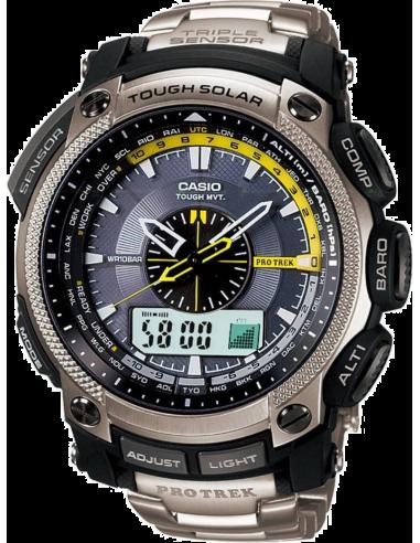 Chic Time | Montre Homme Casio ProTrek PRW-5000T-7ER Argent  | Prix : 439,80€
