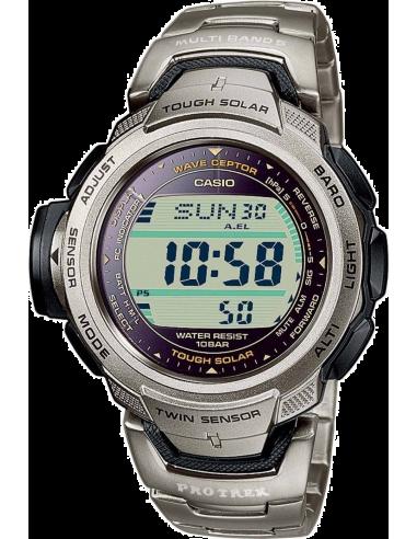 Chic Time | Montre Homme Casio Pro Trek Wave Ceptor Tough Solar PRW-500T-7VER  | Prix : 269,90€