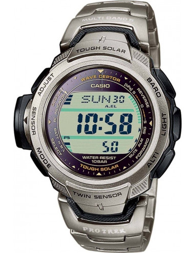 Chic Time | Montre Homme Casio Pro Trek Wave Ceptor Tough Solar PRW-500T-7VER  | Prix : 269,90 €