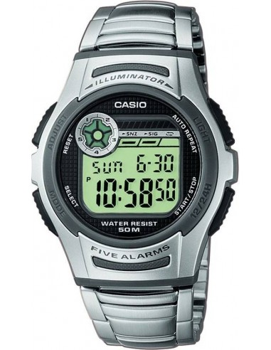 Chic Time | Montre Homme Casio Collection W-213D-1AVES Argent  | Prix : 39,20 €