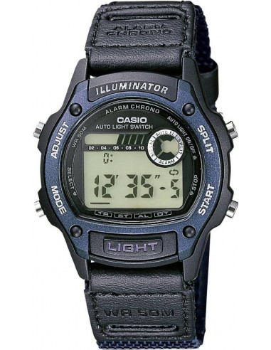 Chic Time | Montre Homme Casio Collection W-94HF-2AVES Bracelet Cuir Noir  | Prix : 62,10€