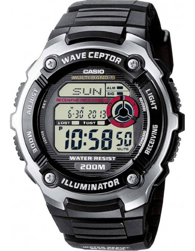 Chic Time   Montre Homme Casio Wave Ceptor Radio Controlled WV-200E-1AVEF    Prix : 75,99€