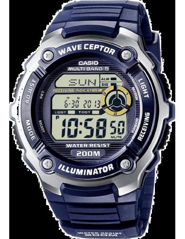 Chic Time | Montre Homme Casio Waveceptor WV-200E-2AVEF Bleu  | Prix : 65,99€
