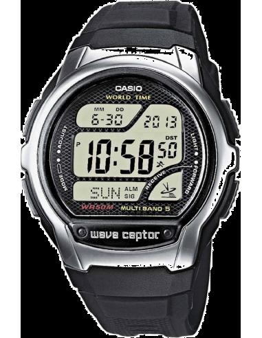 Chic Time | Montre Homme Casio Wave Ceptor Radio Controlled WV-58E-1AVEF Affichage digital noir  | Prix : 44,10€