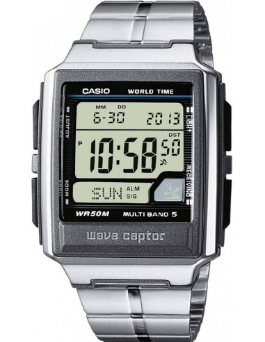 Chic Time | Montre Homme Casio Wave Ceptor Radio Controlled WV-59DE-1AVEF Bracelet Acier Inoxydable  | Prix : 60,99€