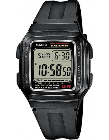 Chic Time | Montre Homme Casio Collection F-201WA-1AEF Noir  | Prix : 16,99 €