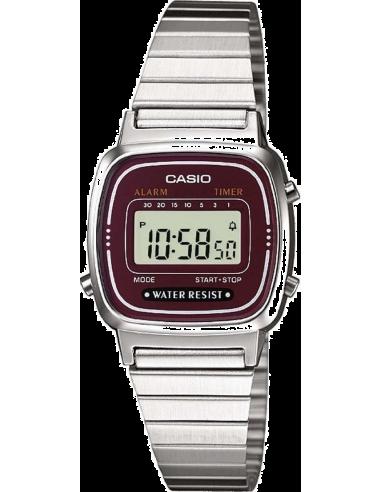 Chic Time | Montre Femme Casio Vintage LA670WEA-4EF Cadran Marron  | Prix : 27,00€