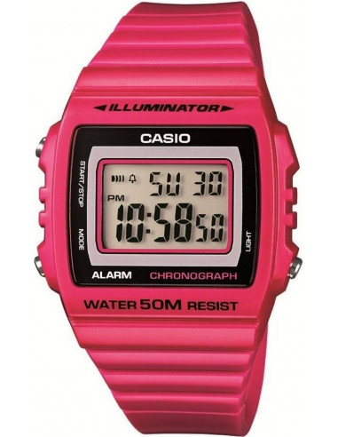 Chic Time | Montre Mixte Casio Collection W-215H-4AVEF Rose  | Prix : 29,00€