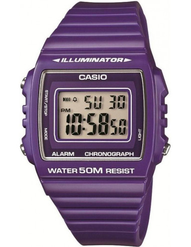 Chic Time | Montre Mixte Casio Collection W-215H-6AVEF Bracelet Résine Violet  | Prix : 17,00 €