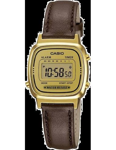 Chic Time | Montre Femme Casio Collection LA670WEGL-9EF Marron  | Prix : 29,99€