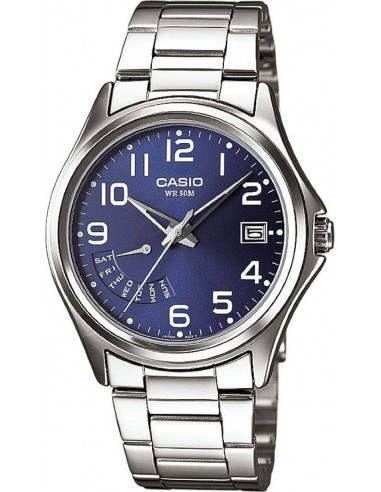 Chic Time | Montre Homme Casio Collection MTP-1369D-2BVEF Argent  | Prix : 49,00 €
