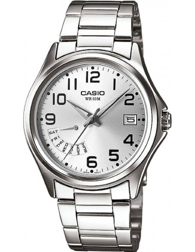 Chic Time | Montre Homme Casio Collection MTP-1369D-7BVEF Argent  | Prix : 49,00 €
