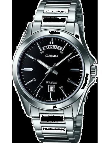 Chic Time | Montre Homme Casio Collection MTP-1370D-1A1VEF Argent  | Prix : 44,10€