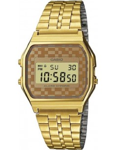 Chic Time | Montre Mixte Casio Collection Vintage A159WGEA-9AEF Or Affichage alphanumérique  | Prix : 39,20 €
