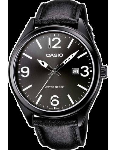 Chic Time | Montre Homme Casio Collection MTP-1342L-1B1EF Bracelet Cuir Noir  | Prix : 44,90€