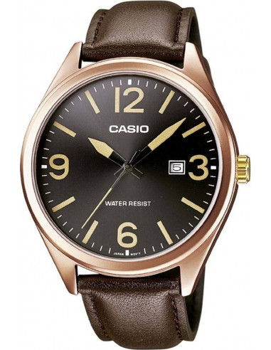 Chic Time | Montre Homme Casio Collection MTP-1342L-1B2EF Bracelet Cuir Marron  | Prix : 44,84 €