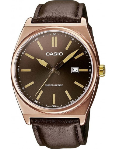 Chic Time | Montre Homme Casio Collection MTP-1343L-5BEF Marron  | Prix : 52,87€
