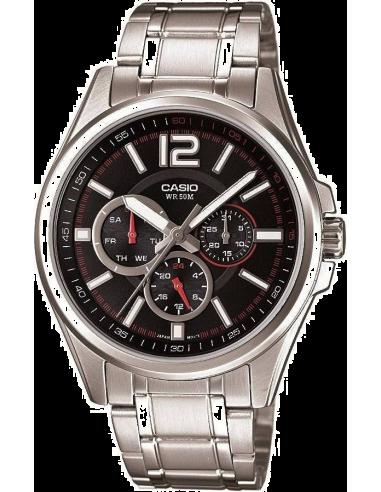 Chic Time | Montre Homme Casio Collection MTP-1355D-1AVEF Bracelet Acier Inoxydable  | Prix : 54,00€