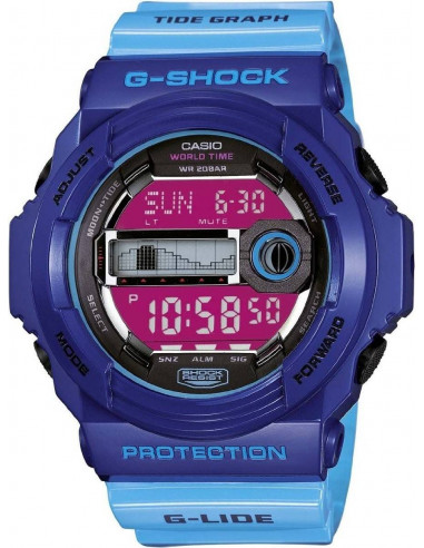 Chic Time   Montre Homme Casio G-Shock GLX-150-2ER Bleu    Prix : 99,00€