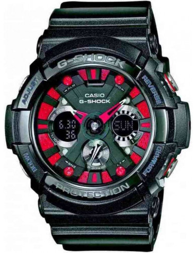 Chic Time | Montre Homme Casio G-Shock GA-200SH-1AER Noir  | Prix : 179,00€