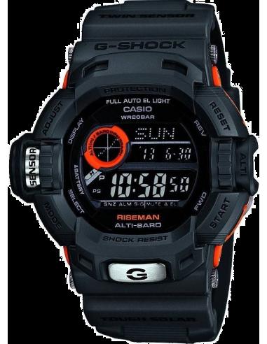 Chic Time | Montre Homme Casio G-Shock G-9200GY-1ER Bracelet Résine Noir  | Prix : 199,00€