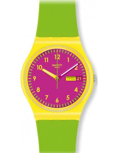 Chic Time | Montre Femme Swatch Green Jelly GJ701  | Prix : 35,90 €