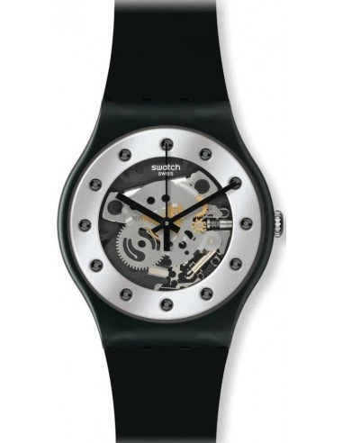 Chic Time   Montre Femme Swatch Originals Silver Glam SUOZ147    Prix : 49,90€