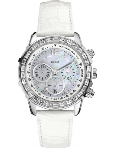 Chic Time | Montre Femme Guess Girly B W0017L1 Blanche  | Prix : 179,00€