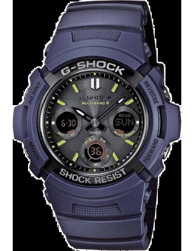 Chic Time   Montre Homme Casio G-Shock AWG-M100NV-2AER Bleu    Prix : 149,00€