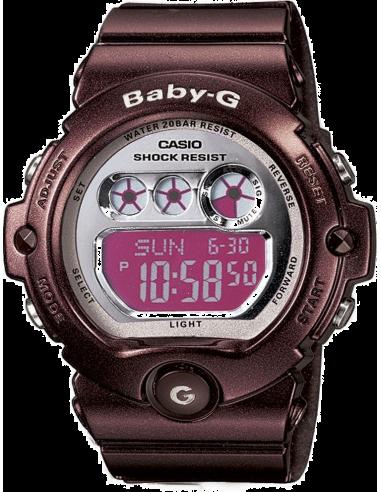 Chic Time | Montre Femme Casio Baby-G BG-6900-4ER Bracelet Résine Bordeaux  | Prix : 80,10€