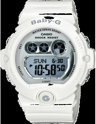 Chic Time | Montre Femme Casio Baby-G BG-6900-7ER Bracelet Résine Blanc  | Prix : 92,70€