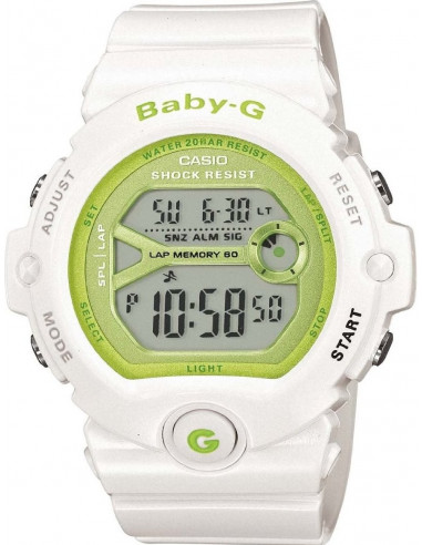 Chic Time   Montre Femme Casio Baby-G BG-6903-7ER Blanc    Prix : 71,00€