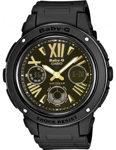 Chic Time | Montre Femme Casio Baby-G BGA-153-1BER Bracelet Résine Noir  | Prix : 97,99€