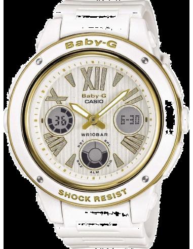 Chic Time | Montre Femme Casio Baby-G BGA-153M-7BER Blanc  | Prix : 135,00€