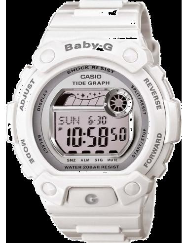 Chic Time   Montre Femme Casio Baby-G BLX-103-7ER Blanc    Prix : 69,89€