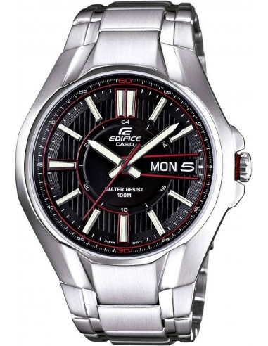 Chic Time | Montre Homme Casio Edifice EF-133D-1AVEF Argent  | Prix : 159,00€