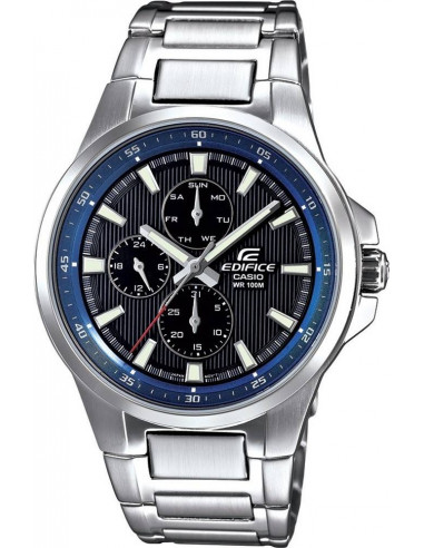 Chic Time | Montre Homme Casio Edifice EF-342D-1A2VEF Argent  | Prix : 79,40€