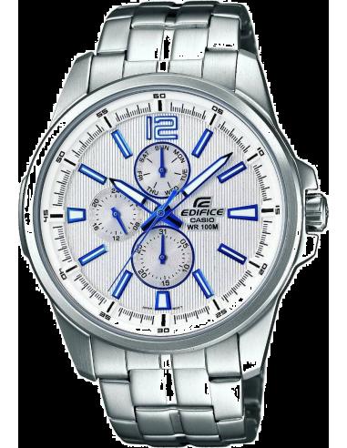 Chic Time | Montre Homme Casio Edifice EF-343D-7AVEF Bracelet Acier Inoxydable  | Prix : 134,90€