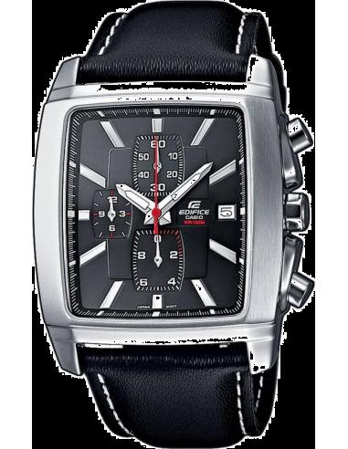 Chic Time | Montre Homme Casio Edifice EF-509L-1AVEF Bracelet Cuir Noir  | Prix : 84,10€