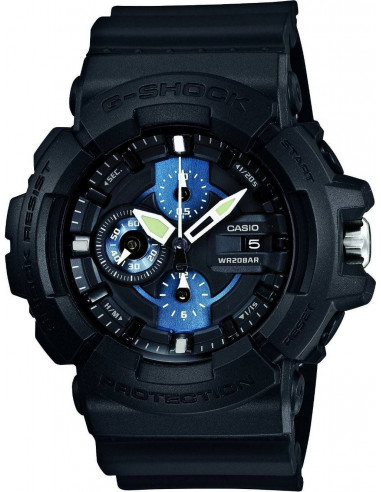 Chic Time | Montre Homme Casio G-Shock GAC-100-1A2ER Noir  | Prix : 129,99€
