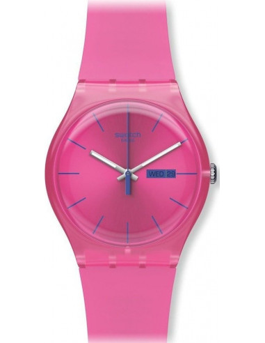 Chic Time   Montre Femme Swatch Pink Rebel SUOP700    Prix : 35,00€