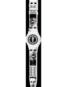 Chic Time | Montre Swatch & Art SUOZ125 Blanc  | Prix : 38,50€