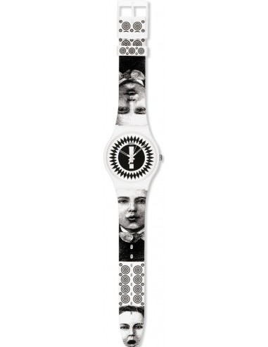 Chic Time | Montre Swatch & Art SUOZ125 Blanc  | Prix : 38,50 €