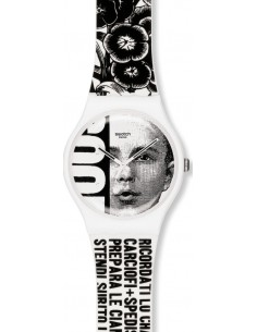 Chic Time | Montre Swatch & Art SUOZ127 Blanc  | Prix : 29,50 €